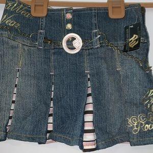 Girls Roca Wear denim skirt